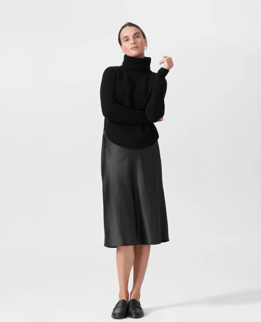 Universal Standard Cashmere Turtleneck Sweater.